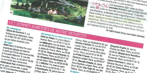 L'Hôtel Azur cité dans un article sur la ville de Reims